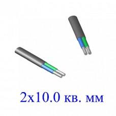 Кабель АВВГ 2х10,0 кв.мм (ож)-0,66