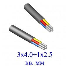 Кабель АВВГ 3х4+1х2,5 кв.мм (ож)-0,66