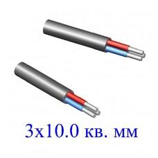 Кабель АВВГ 3х10,0 кв.мм (ож)-0,66