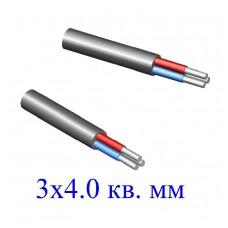 Кабель АВВГ 3х4,0 кв.мм (ож)-0,66