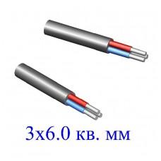 Кабель АВВГ 3х6,0 кв.мм (ож)-0,66