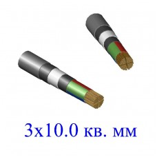 Кабель ВБбШв 3х10,0 кв.мм (ож)-0,66