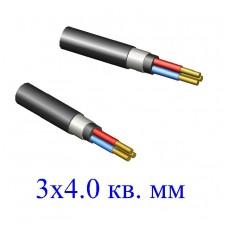 Кабель ВБбШв 3х4,0 кв.мм (ож)-0,66 с заполнением