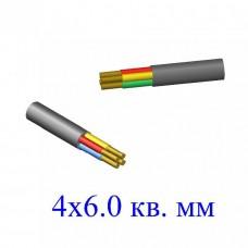 Кабель ВВГ 4х6,0 кв.мм (ож)-0,66