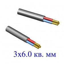 Кабель ВВГ 3х6,0 кв.мм (ож)-0,66