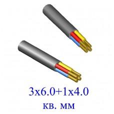 Кабель ВВГ 3х6,0+1х4,0 кв.мм (ож)-0,66