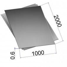 Лист холоднокатаный 0,6х1000х2000