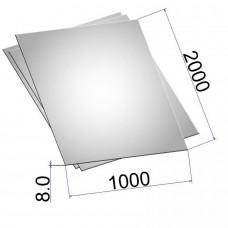 Лист стальной нержавеющий AISI 304 г/к 8х1000х2000