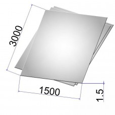 Лист стальной нержавеющий AISI 304 х/к шлифованный 1.5х1500х3000 grit 320
