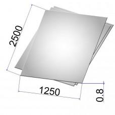 Лист стальной нержавеющий AISI 304 х/к зеркальный 0.8х1250х2500
