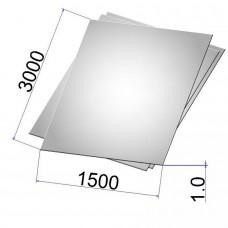 Лист стальной нержавеющий AISI 304 х/к 1х1500х3000