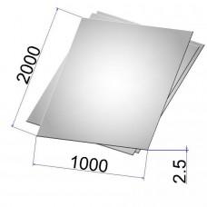 Лист стальной нержавеющий AISI 304 х/к 2.5х1000х2000