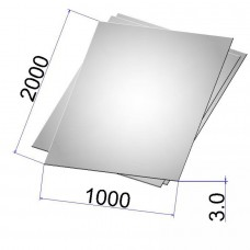 Лист стальной нержавеющий AISI 304 х/к 3х1000х2000