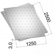 Лист стальной нержавеющий AISI 304 г/к с чечевичным рифлением 3х1250х2500