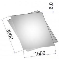Лист стальной нержавеющий AISI 316Ti г/к 6х1500х3000
