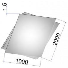 Лист стальной нержавеющий AISI 321 х/к 1.5х1000х2000