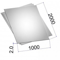 Лист стальной нержавеющий AISI 430 х/к 2х1000х2000
