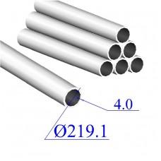 Труба круглая AISI 304 EN 10217-7 219.1х4 (Италия)