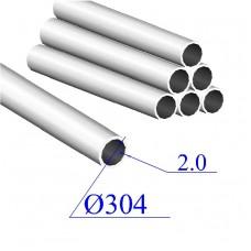 Труба круглая AISI 304 EN 10217-7 304х2 (Италия)