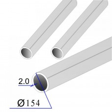 Труба круглая AISI 304 пищевая DIN 11850 154х2 (Италия)