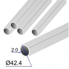 Труба круглая AISI 304 DIN 17457 шлифованная grit 320 42.4х2