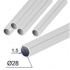 Труба круглая AISI 304 DIN 17457 зеркальная 28х1.5