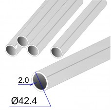 Труба круглая AISI 304 DIN 2463 зеркальная HF 42.4х2