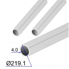 Труба круглая AISI 316 EN 10217-7 219.1х4