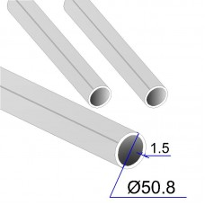 Труба круглая AISI 316L пищевая DIN 11850 50.8х1.5