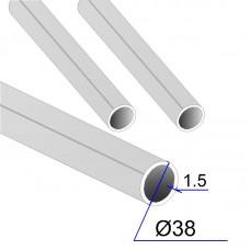 Труба круглая AISI 316L DIN 17457 зеркальная 38х1.5