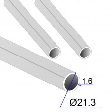 Труба круглая AISI 316L EN 10217-7 21.3х1.6