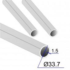 Труба круглая AISI 316L EN 10217-7 L=10000 33.7х1.5 (Италия)