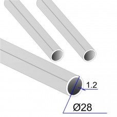 Труба круглая AISI 316L EN 10217-7 28х1.2 (Италия)