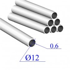 Трубы нержавеющие электросварные сталь 08Х18Н10 12х0.6
