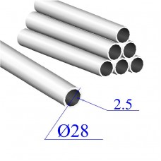 Трубы нержавеющие электросварные сталь 08Х18Н10 28х2.5