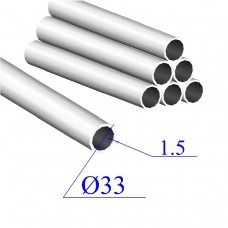 Трубы нержавеющие электросварные сталь 08Х18Н10 33х1.5