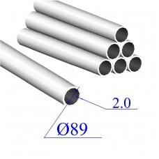Трубы нержавеющие электросварные сталь 08Х18Н10 89х2