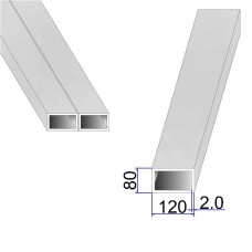 Труба прямоугольная AISI 304 DIN 2395 120х80х2