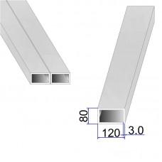 Труба прямоугольная AISI 304 DIN 2395 120х80х3