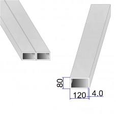 Труба прямоугольная AISI 304 DIN 2395 120х80х4