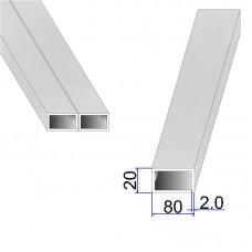 Труба прямоугольная AISI 304 DIN 2395 80х20х2