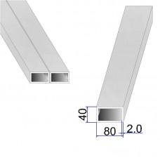 Труба прямоугольная AISI 304 DIN 2395 80х40х2