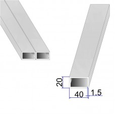 Труба прямоугольная AISI 316L DIN 2395 40х20х1.5