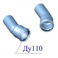 Отвод напорный ПВХ 110х22 гр.