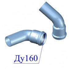 Отвод напорный ПВХ 160х60 гр.
