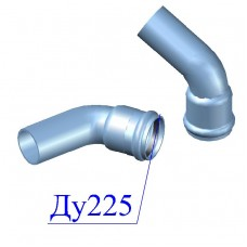 Отвод напорный ПВХ 225х60 гр.