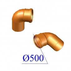 Отвод ПВХ для наружной канализации 500х87 гр.