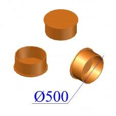 Заглушка раструбная ПВХ для наружной канализации 500
