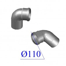 Отвод ПВХ для внутренней канализации 110х87 гр.