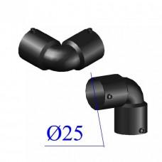 Отвод ПНД электросварной D 25 х90 гр. ПЭ 100 SDR 11